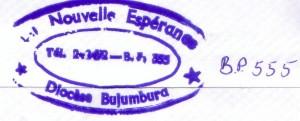 Ein Brief aus Burundi, Stempel