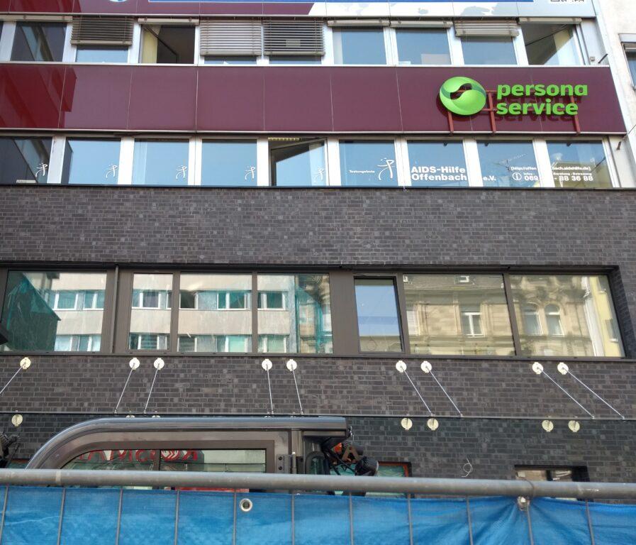 Das Büro in der Frankfurter Straße 48 in Offenbach